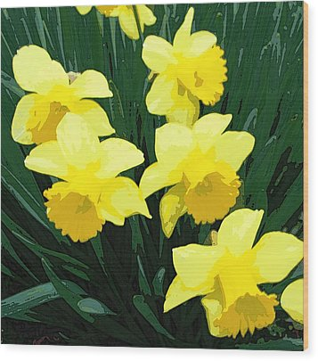 Daffodil Song Wood Print