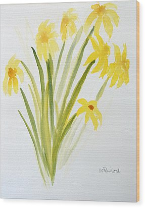 Daffodils For Mothers Day Wood Print by Wade Binford