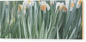 Daffodils In The Midst Wood Print
