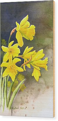 Daffodils Wood Print by Rick Huotari