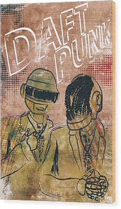 Daft Punk  Wood Print by Jackson