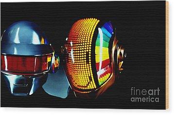 Daft Punk  Wood Print by Marvin Blaine