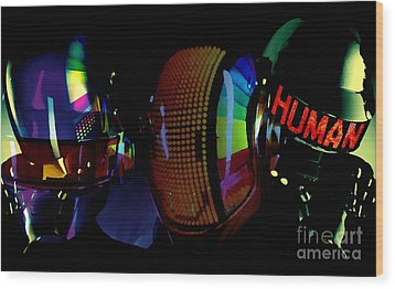 Daft Punk Painting Wood Print by Marvin Blaine