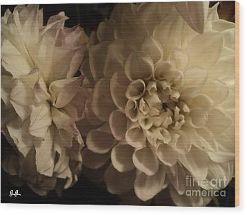 Wood Print featuring the photograph Dahlia Duo by Geri Glavis