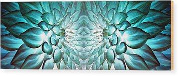 Dahlia Flower Art Wood Print by Sumit Mehndiratta