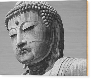 Daibutsu 2 Wood Print by Larry Knipfing