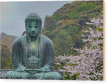 Daibutsu Buddha Wood Print by Alan Toepfer
