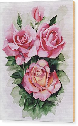 Dainty Ladies Wood Print by Suzanne Schaefer