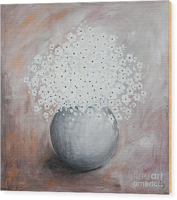 Daisies Wood Print by Home Art