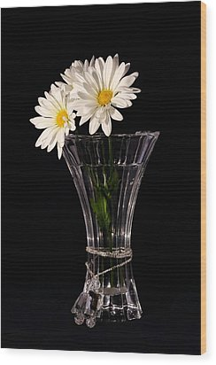Wood Print featuring the photograph Daisies In Vase by Tracie Kaska