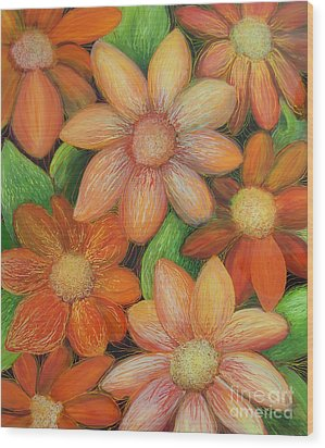Daisy Bouquet Wood Print by Anna Skaradzinska