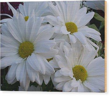 Daisy Bouquet Wood Print by Belinda Lee