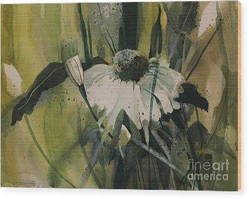 Daisy Wood Print by Elizabeth Carr
