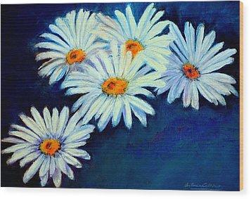 Daisy Fever  Pastel Wood Print by Antonia Citrino