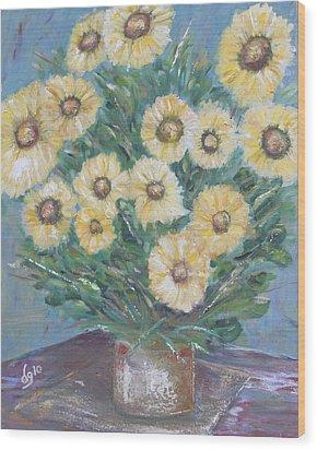 Daisy Burst Wood Print