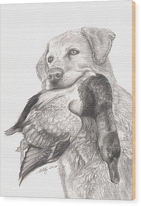 Daisy Wood Print by Kathleen Kelly Thompson