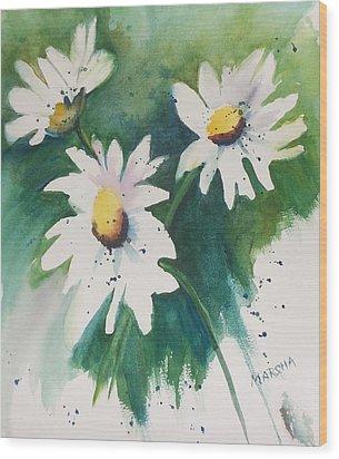 Daisy Print Wood Print