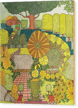 Daisy Walk Wood Print