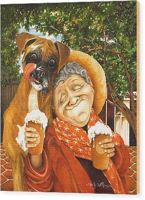 Daisy's Mocha Latte Wood Print by Shelly Wilkerson