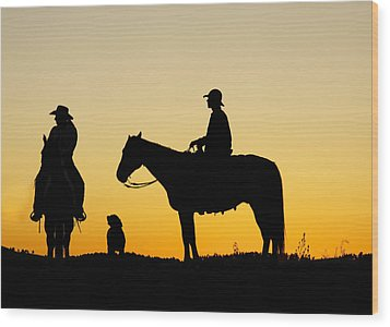 Dakota Morning Wood Print by Steven Bateson