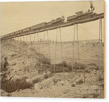 Dale Creek Bridge Union Pacific Wood Print by Getty Research Institute