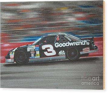 Dale Earnhardt Goodwrench Chevrolet Wood Print by Paul Kuras