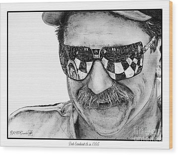 Dale Earnhardt Sr In 1995 Wood Print by J McCombie