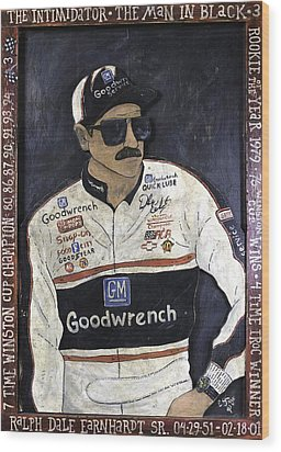 Dale Earnhardt Sr. - The Intimidator Wood Print by Eric Cunningham