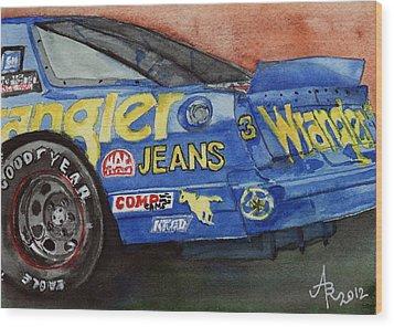 Dale Earnhardt's 1987 Chevrolet Monte Carlo Aerocoupe No. 3 Wrangler  Wood Print