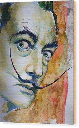 Wood Print featuring the painting Dali by Laur Iduc