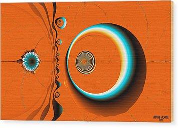 Dali's Desert Wood Print