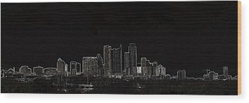 Wood Print featuring the photograph Dallas Glow Skyline by Ellen O'Reilly