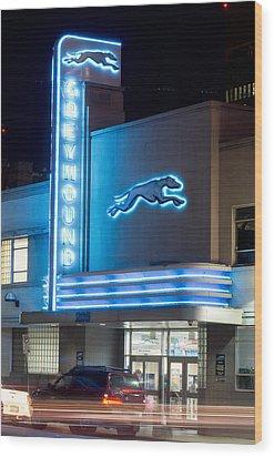 Dallas Greyhound V2 020915 Wood Print