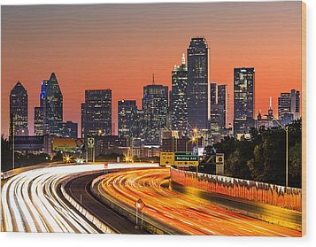 Dallas Sunrise Wood Print