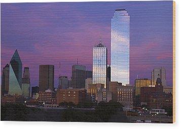 Dallas Sunset Wood Print