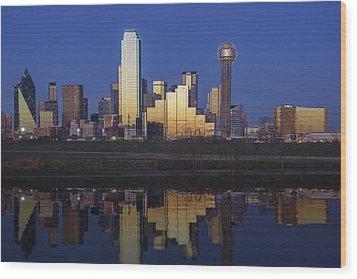Dallas Twilight Wood Print by Rick Berk