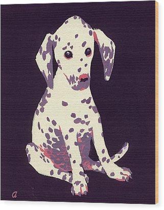 Dalmatian Puppy Wood Print by George Adamson
