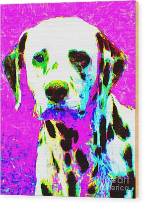 Dalmation Dog 20130125v1 Wood Print by Wingsdomain Art and Photography