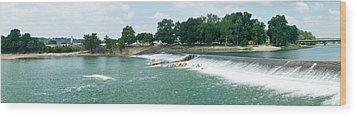 Dam At Batesville Arkansas Wood Print by Douglas Barnett