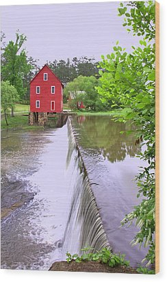 Dam At Starrs Mill Wood Print