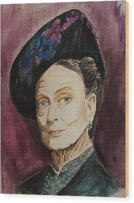 Dame Maggie Smith Wood Print by Amber Stanford