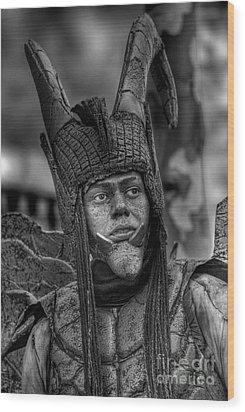 Wood Print featuring the photograph Damian by Erhan OZBIYIK