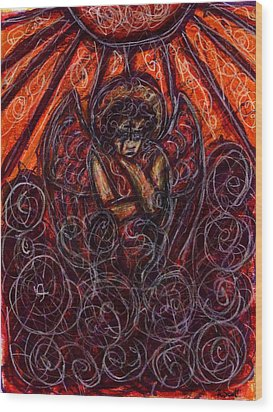 Damnation Wood Print by Rachel Scott