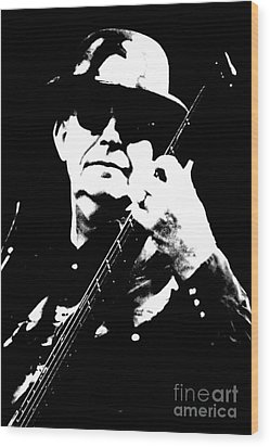 Dan K Brown - The Fixx - Bass Wood Print by Anthony Gordon Photography