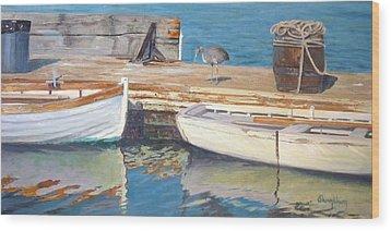 Dana Point Harbor Boats Wood Print by Sharon Weaver