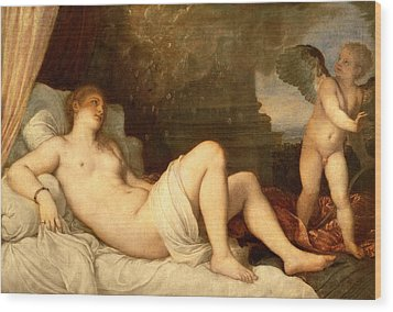 Danae Wood Print by Titian