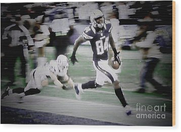 Danario Alexander - Chargers Wood Print by RJ Aguilar