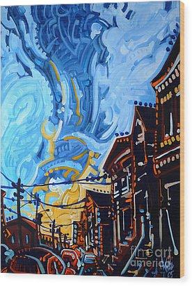 Dana's Sky Wood Print by Michael Ciccotello
