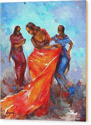 Dance 3 Wood Print by Negoud Dahab