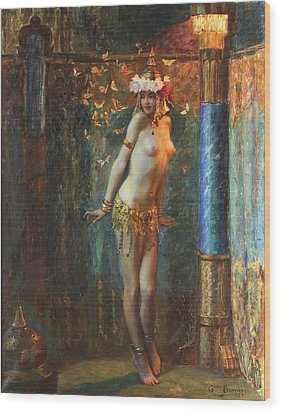 Dance De Salome Wood Print by Gaston Bussiere